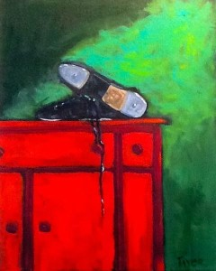 """""""The Last Dance"""" by Scott Taylor Acrylic on Canvas 20"""" h x 16"""" w Value $650 Starting bid $325 Buy NOW $650 Bid in increments of $10"""